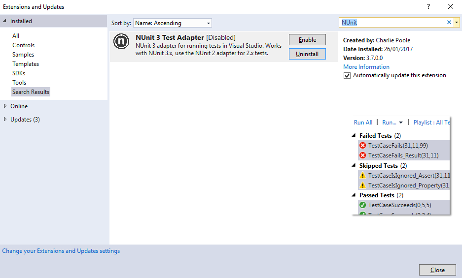 Mark Burton - NUnit 3 Tests Are Not Showing In Visual Studio Test